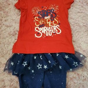4th Of July Tutu/Shorts & Shirt